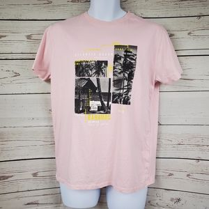 ZARA kids surf pink crew neck tshirt boys 13/14